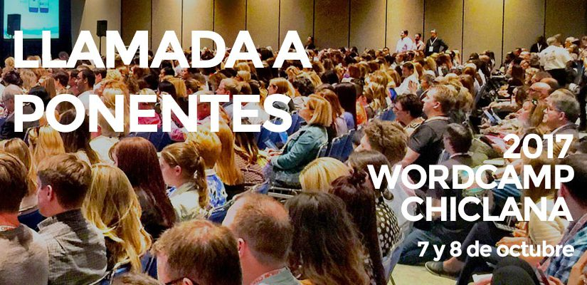 llamada ponentes WordCamp Chiclana 2017